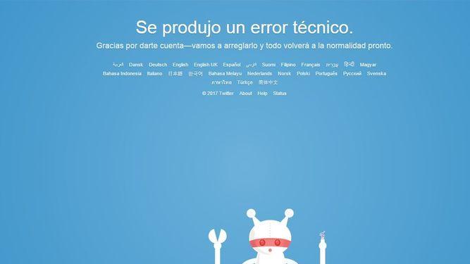 Twitter, con problemas a nivel mundial