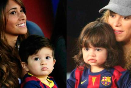 Shakira desmiente 'roces' con novia de Messi