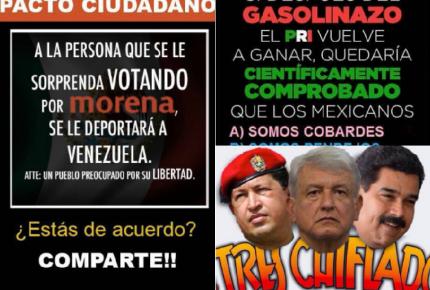 """""""Morena dictador"""" y #MéxicovsPRI, la guerra en redes"""
