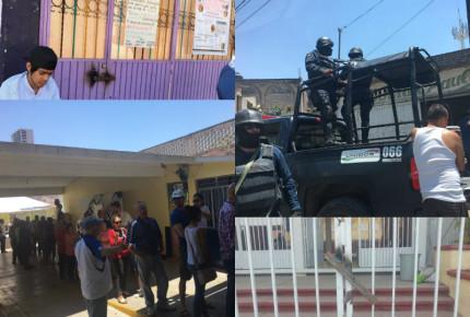 Casillas soldadas y 'polis' encapuchados en Nayarit