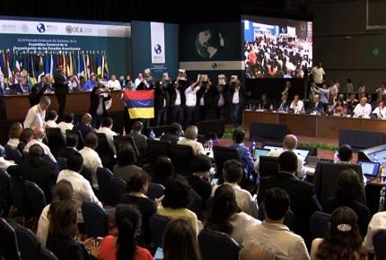 Opositores a Maduro interrumpen plenaria de OEA