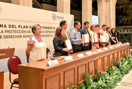 En Chihuahua instalan plan de protección a periodistas