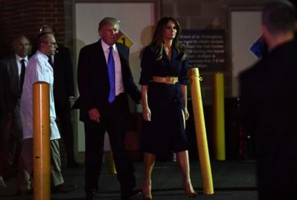 Trump visita a congresista herido; sigue grave