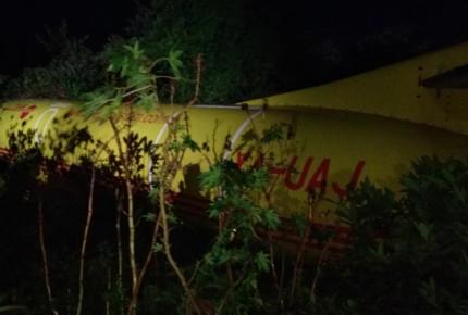 Avión se estrella en aeropuerto de Tampico