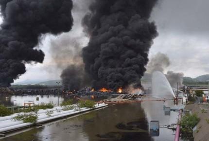 Un muerto por incendio de refinería en Salina Cruz