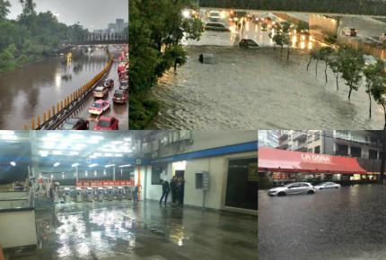 Tromba colapsa CDMX; inunda al Poniente y L7 del Metro