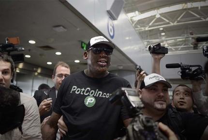 En medio de tensiones, Rodman llegó a Corea del Norte