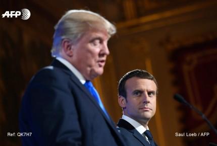 Macron defiende Acuerdo de París; 'algo puede cambiar', dice Trump
