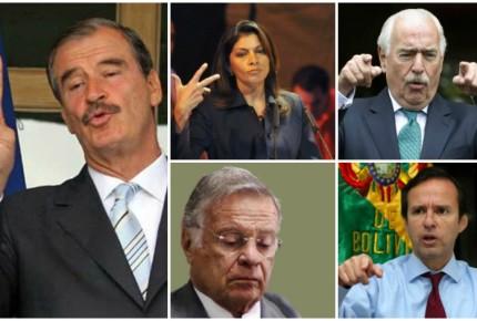 """Venezuela califica de """"non gratos"""" a otros 4 expresidentes... además de Fox"""