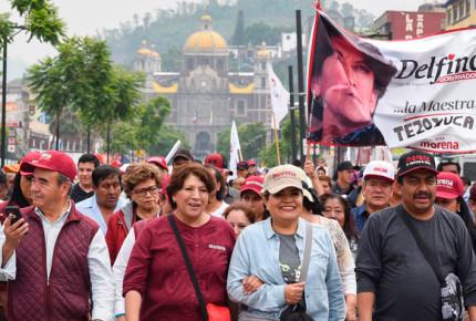 Impiden a Delfina instalar campamento en Calzada de Guadalupe