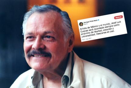 Cuevas será recordado como sinónimo de libertad: Peña