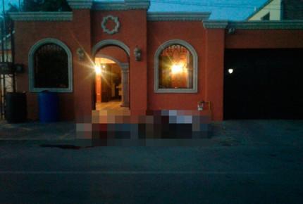 Abandonan 10 cuerpos frente a casa en Nuevo Laredo