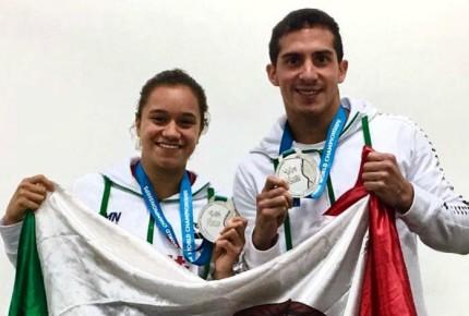 Romel y Viviana ganan medalla de plata en Mundial de Natación