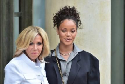 Rihanna y los Macron se reúnen por la educación