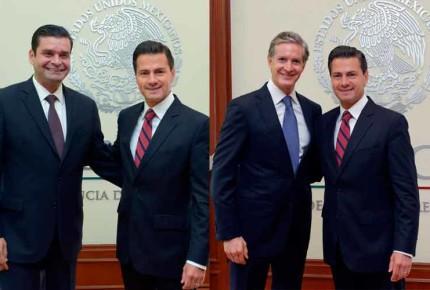 Peña recibe a Del Mazo y Echevarria en Los Pinos