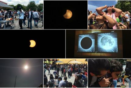 Mexicanos observan eclipse solar