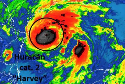 Alerta amarilla en Tamaulipas por huracán 'Harvey'