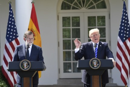 Rajoy pide a Cataluña sentido común; Trump por una España unida