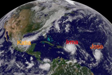 'Katia' es huracán 1: Veracruz en alerta y 5 días en riesgo de inundación