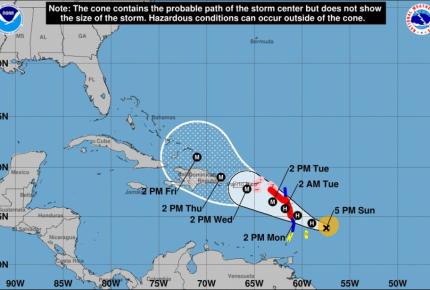 'María' se convierte en huracán
