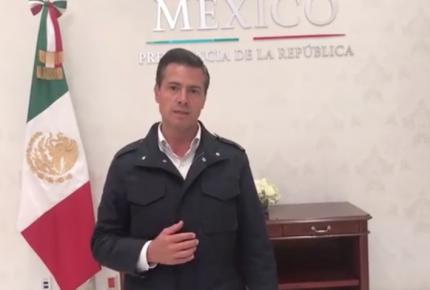 Peña Nieto activa el Plan MX para CDMX, Puebla, Edomex y Morelos