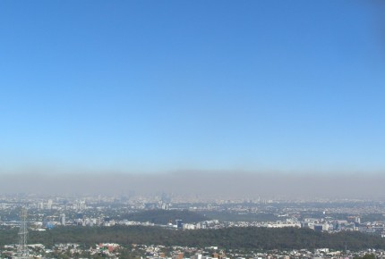 Mala calidad del aire e inversión térmica afectan al Valle de México