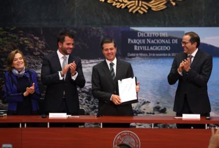 Decreta Peña Nieto creación del Parque Nacional Revillagigedo