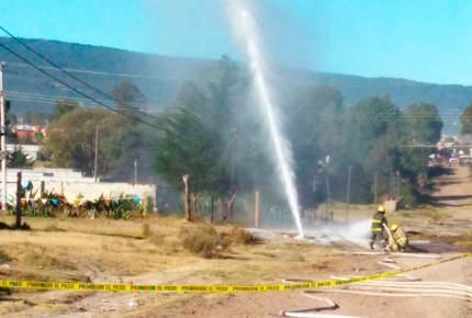 Se registra fuga de combustible en Santiago Tulantepec