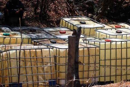 Incautan 3 mil litros de huachicol en Veracruz; detienen a 8 personas