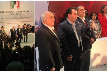 José Yunes registra precandidatura en Veracruz y arremete contra panistas