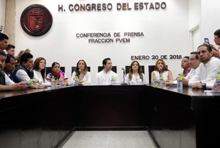 Renuncian 14 de 16 diputados del Partido Verde en Chiapas