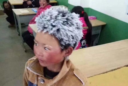Bajas temperaturas en China congelan hasta... ¡el pelo!