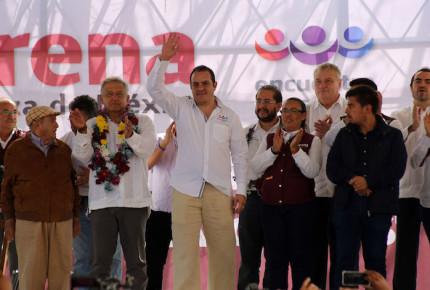 El 'Cuau' dice que hará pagar a quien ha dañado Morelos (si gana)