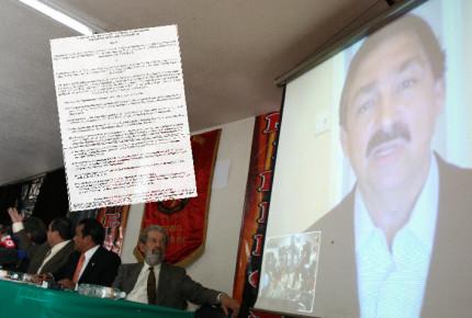 Gómez Urrutia acusa difamación y pide reparación a minera