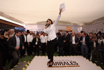 Barrales se registra como candidata del Frente a la CDMX