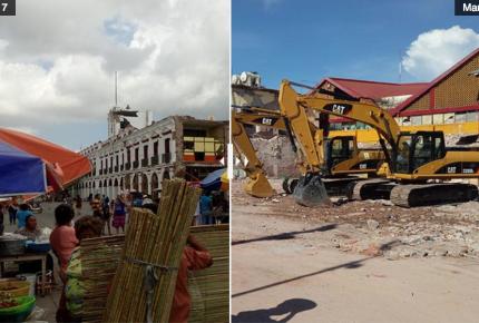 Antes y después del terremoto en Juchitán (Fotos)
