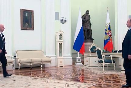 Putin 'echa cascarita' a 100 días del Mundial de Rusia