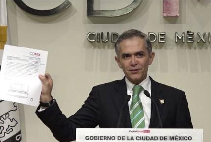 """""""A la CDMX no le puedo decir adiós, sino hasta luego"""": Mancera"""