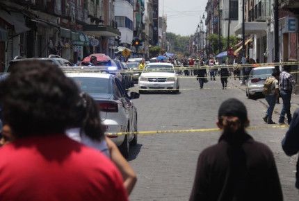 Se desata balacera en Centro Histórico de Puebla