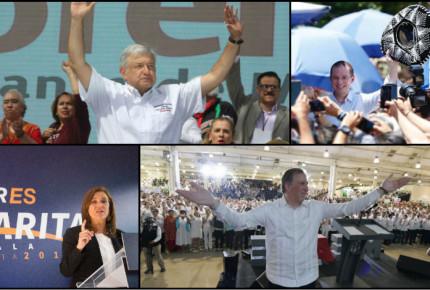 Galería: Arrancan presidenciales campañas con actos masivos