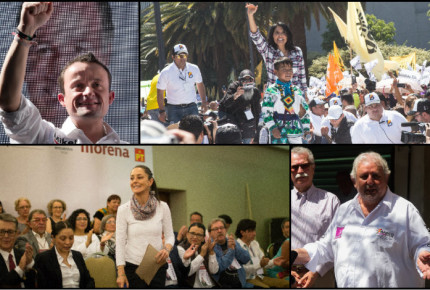 Galería: También en CDMX inician campañas para Jefe de Gobierno