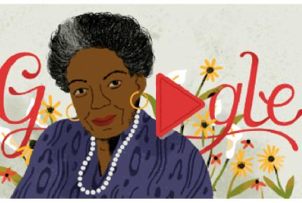Google recuerda a la activista estadounidense Maya Angelou
