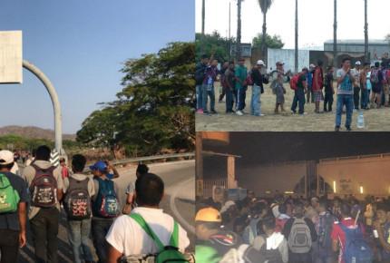 INM y Marina retienen a 400 del Viacrucis en Veracruz, denuncian migrantes