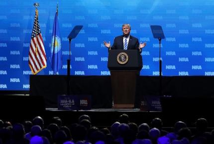Trump apoya a lobby de armas: Segunda Enmienda no cambiará