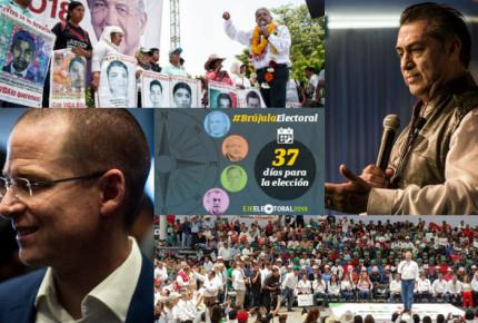 AMLO promete justicia para los 43; Anaya lo acusa de vocero de Peña; Meade niega problema con Nestora y Bronco pide celeridad