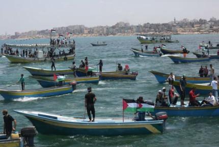 Tropas israelíes retienen barco con veintena de activistas palestinos