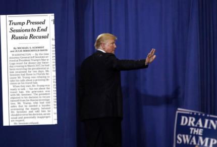 Trump presionó a Sessions para retomar control del 'Rusiagate': NYT