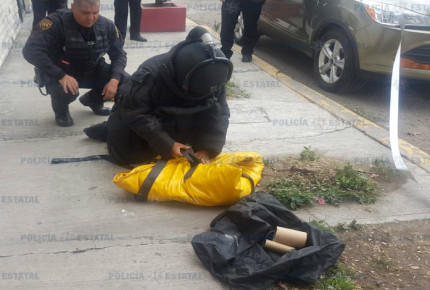 Descubre polícia estatal granada de fragmentación en Ecatepec
