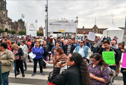 Damnificados del 19-S bloquean 20 de noviembre