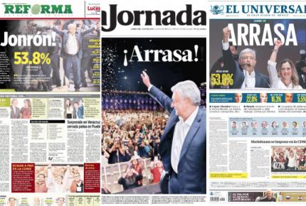 AMLO arrasa (también) con las portadas de los diarios de México